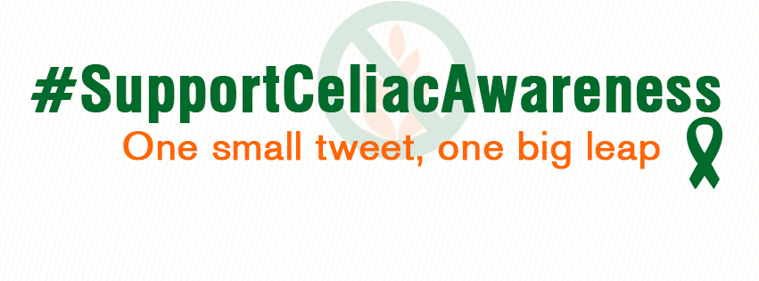 #SupportCeliacAwareness | One small tweet, one big leap.