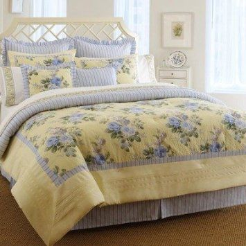Laura Ashley Caroline 4 Piece Comforter Set Overstock Com