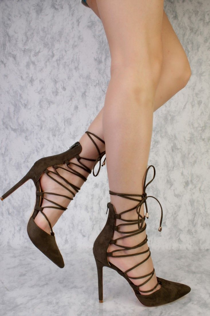 1094a9ea225 These sexy and stylish single sole high heels are a must have this season!  The features include a suede upper with a pointed closed toe