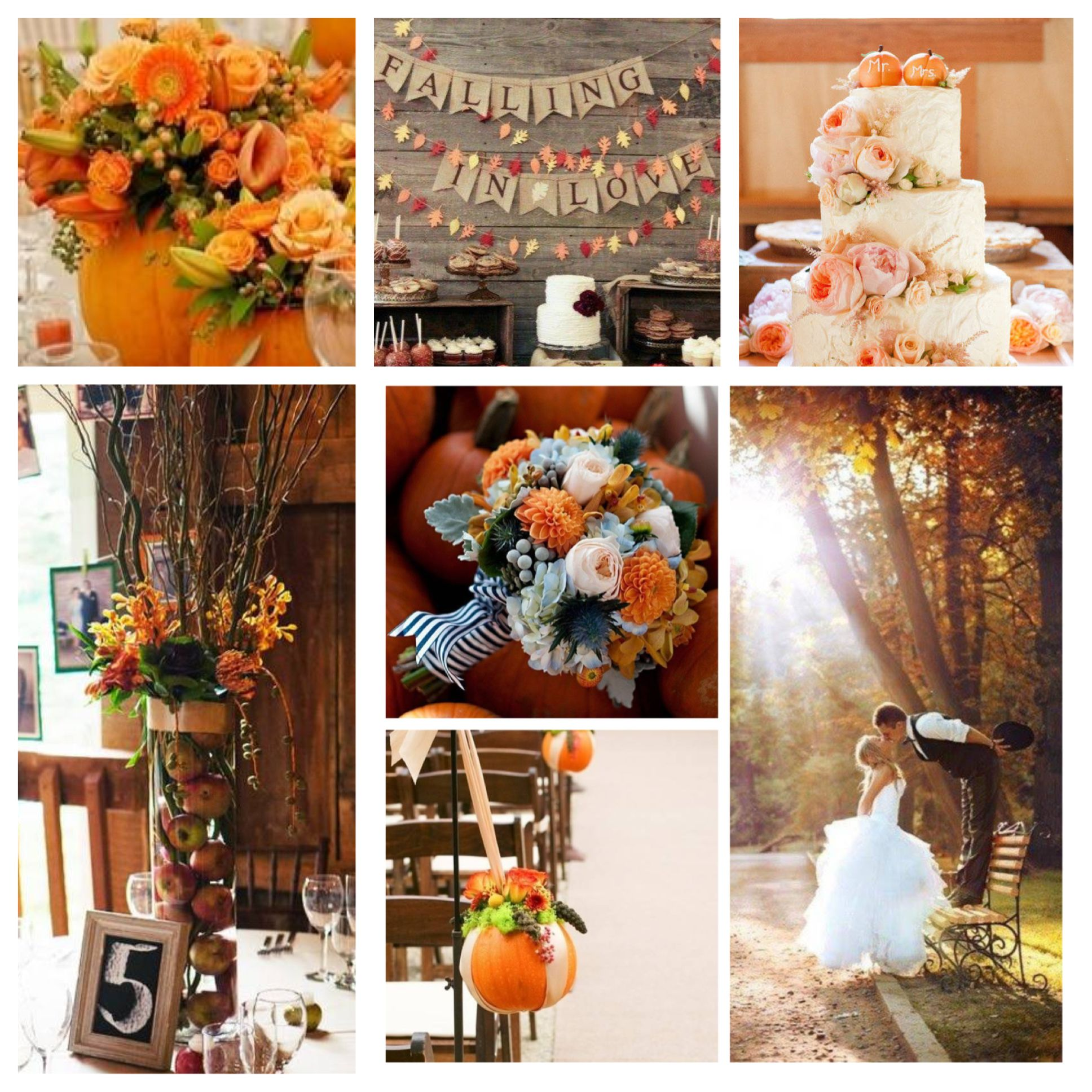 Fall Theme Weddings