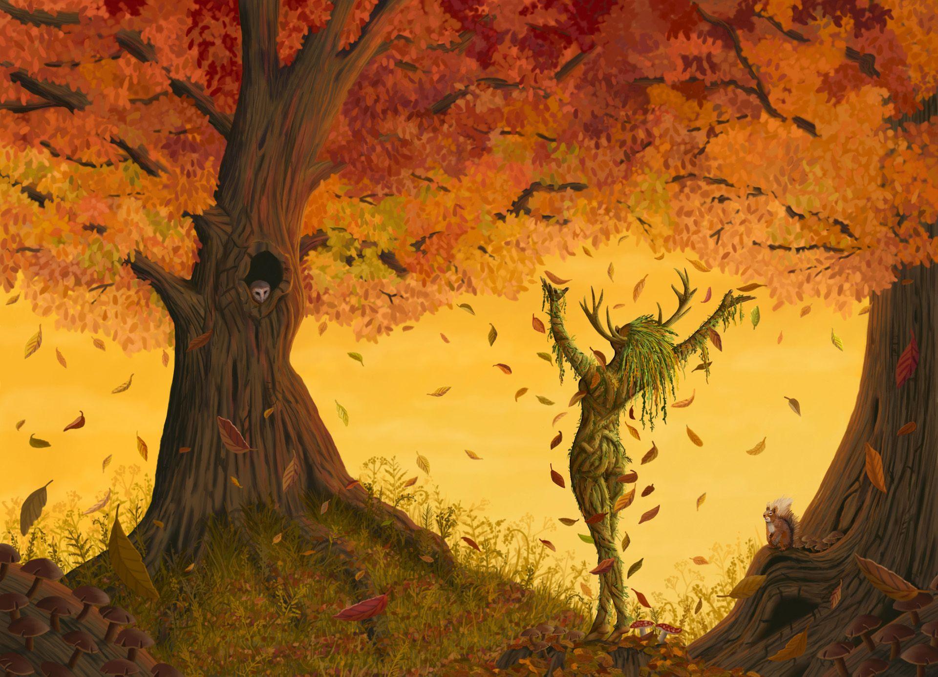 The Leaf Charmer  Fantasy Art & Illustration By Martin
