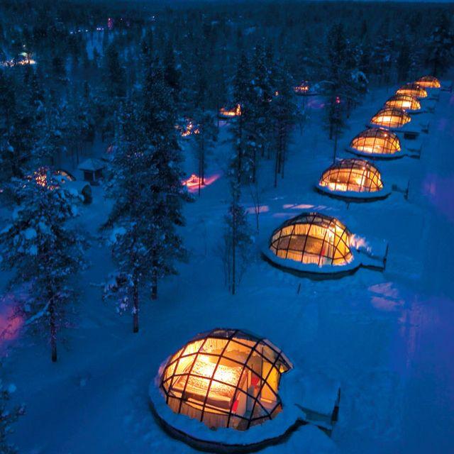 Kakslauttaten Resort, Finland. I want to go.