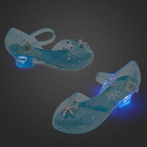 chaussure reine des neiges lumineuse