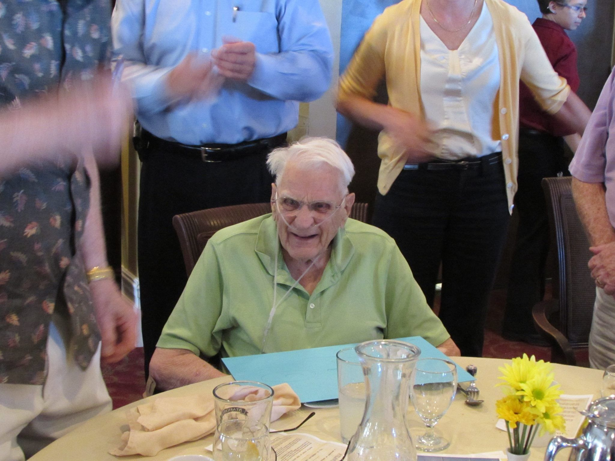 Doctor Dick McMurray celebrating his 93rd birthday with family and friends at Rotary Club of Petoskey. — at Stafford's Perry Hotel.