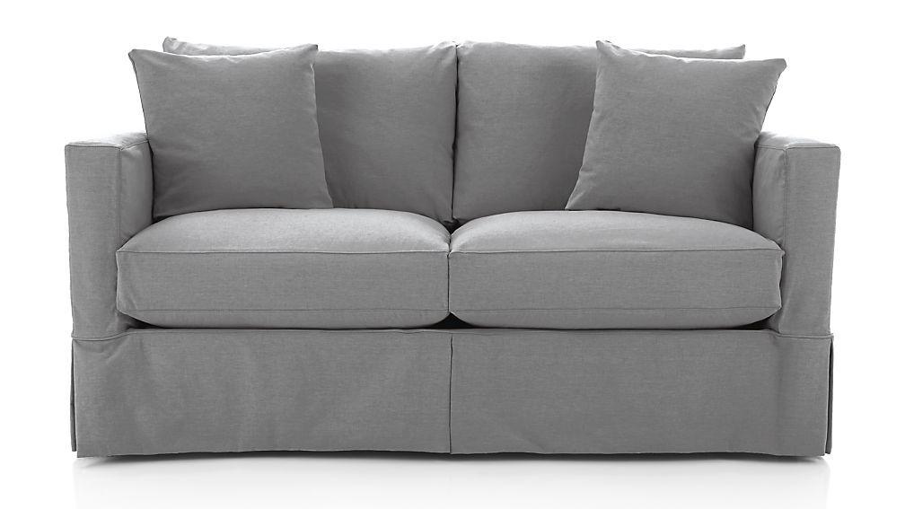 Willow Modern Slipcovered Full Sleeper Sofa With Air Mattress