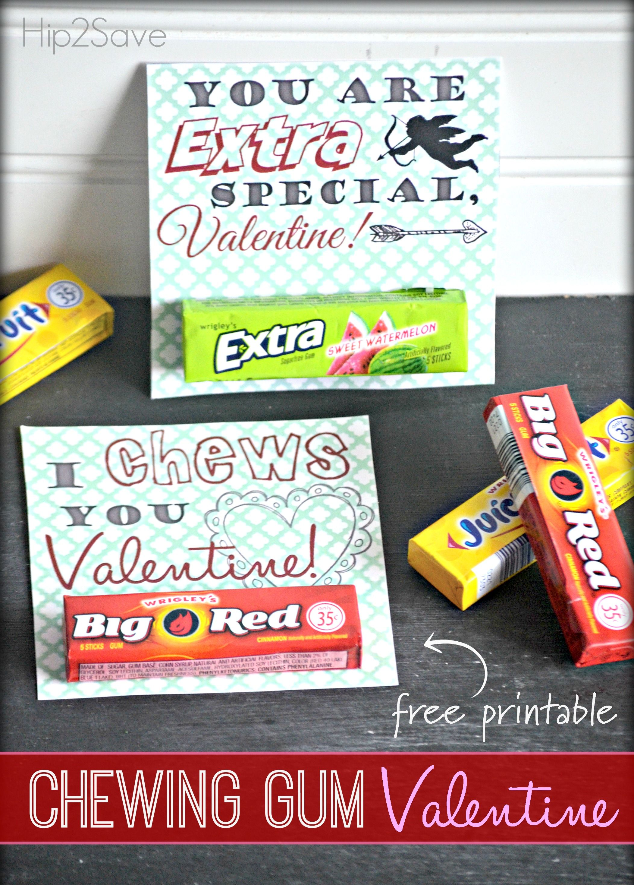 photo regarding Extra Gum Valentine Printable named Chewing Gum Valentines Working day Playing cards (Absolutely free Printables) All