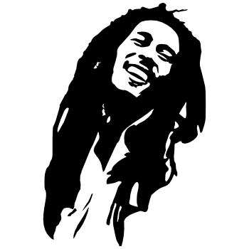 Stickers Bob Marley Noir 1521 Png 350 350 Pixels Bob Marley Art Bob Marley Painting Bob Marley Tattoo