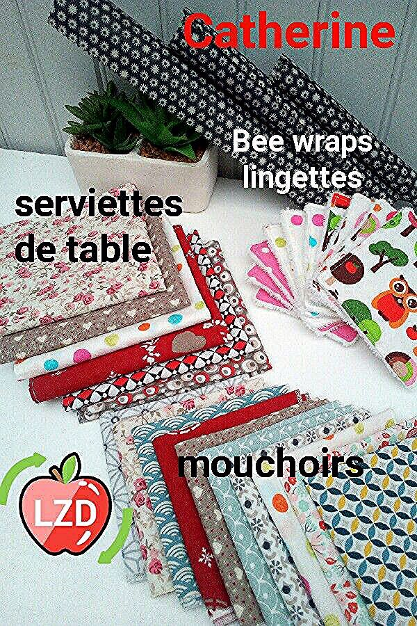 Articles durables zéro déchet. #essuietoutlavable #sopalin #lavette #eponge durable #lingettelavable #beewrap #mouchoirsentissus #papiertoilettelavable #papierhygieniquelavable #epongedurable #sacavrac #faitmainenfrance #ecologie #economique #durable #lavable #reutilisable #lunicecreationszd #lzd #lunice #couturezerodechet