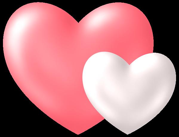 Two Hearts Transparent Png Clip Art Image Clip Art Freebies Clip Art Colorful Heart