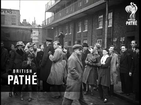 An unexploded bomb is discovered one Sunday in Stepney, 1949: https://youtu.be/4eGx7Rmt0RM