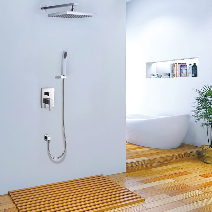 Modern Wall Mounted Rain Shower Head & Handshower Shower System Free ...