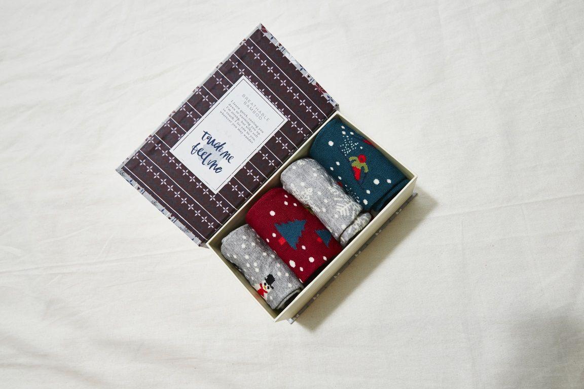 Festive Socks Gift Box