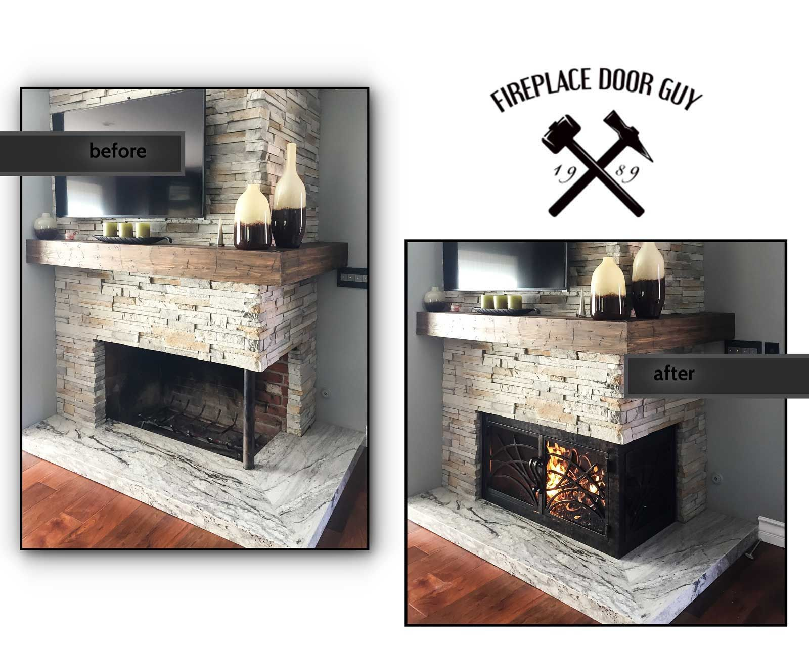 Corner Unit Fireplaces Are Tough To Find A Fireplace Screen To Fit