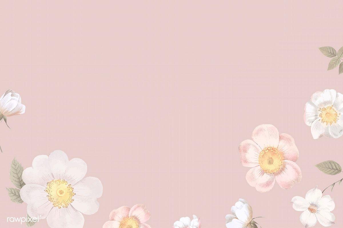 Download Premium Vector Of Elegant Floral Frame Design Vector 842598 Flower Background Wallpaper Frame Design Illustration Design Aesthetic flower wallpaper horizontal