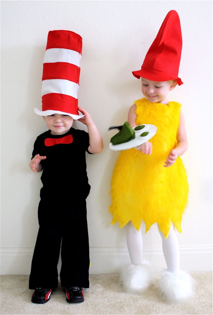 cat in the hat and green eggs and ham. | kid's halloween costumes