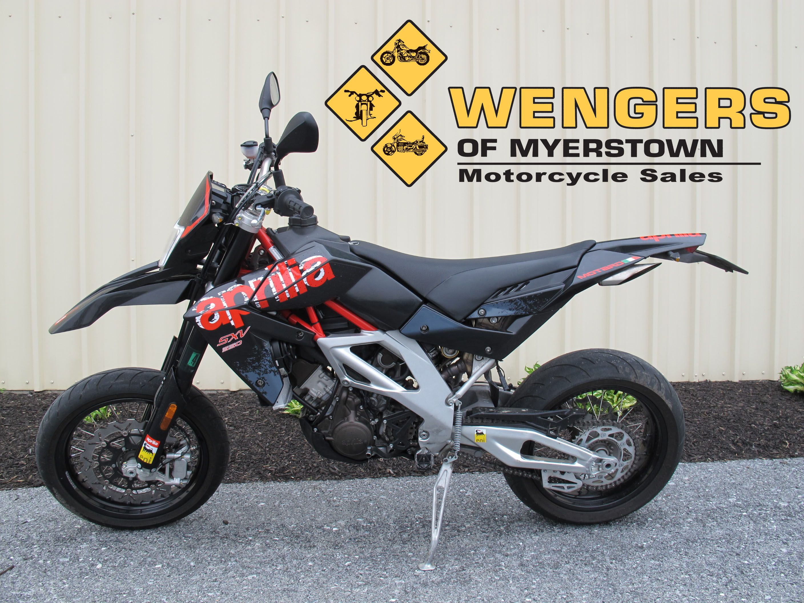 aprilia sxv 550 supermoto motorcycles for sale at wengers of myerstown sold bikes for sale. Black Bedroom Furniture Sets. Home Design Ideas