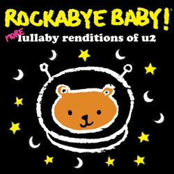 Rockabye baby Lullabies. I can download a couple of albums and we can play this music in the background. They are all sweet sounding, but are all rock songs. Also, we can make an album and make CDs as a favor gift. @DeeKayEvents