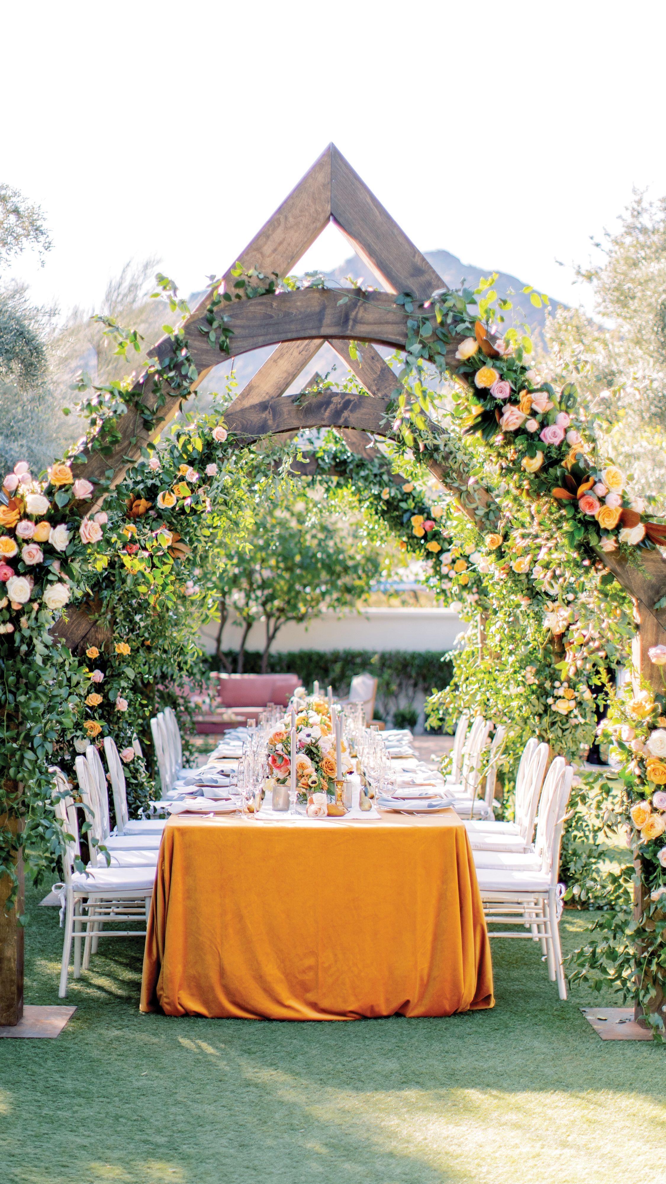 Desert Oasis Wedding in Arizona Starring Sunny Yellow