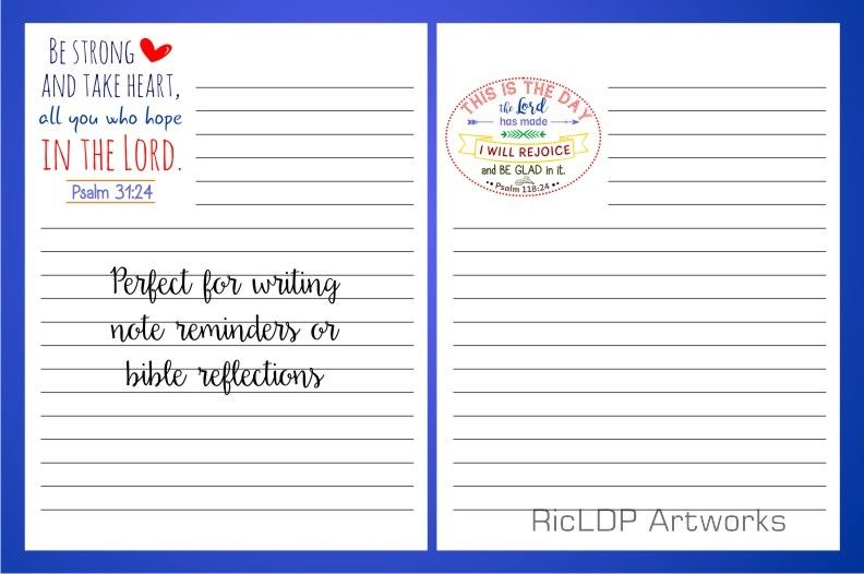 graphic about Printable Notepads titled 4 Bible Notepads Printables and Templates Pdf