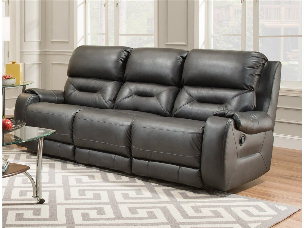 triple reclining sofa chesterfield grey southern motion urban 045710 family room in