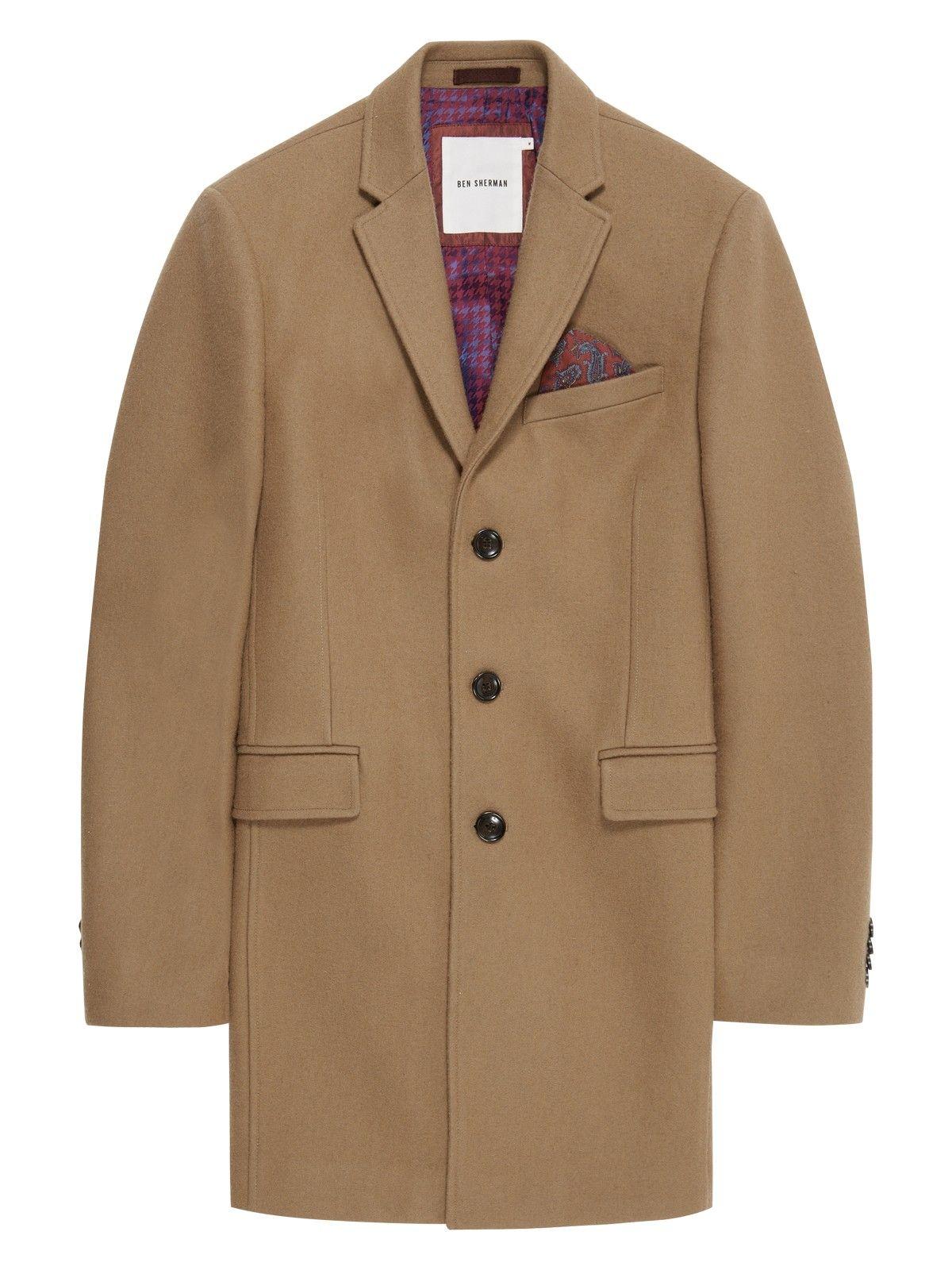 Melton wool covert coat | .clothes | Pinterest