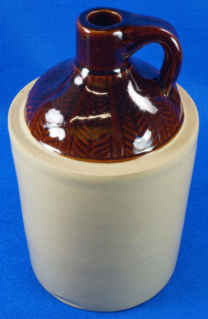 Antique Stoneware Crock 1 Gallon Shoulder Whiskey Jug with Top Wheat Pattern  To see the Price and Detailed Description you can find this item in our Category Vintage Barware & Advertising on eBay: http://stores.ebay.com/tincanalley1/Vintage-Barware-Advertising-/_i.html?_fsub=19689496018   RD14420  Go back to Tin Can Alley - FOR SALE: http://www.bagtheweb.com/b/PBdAfQ