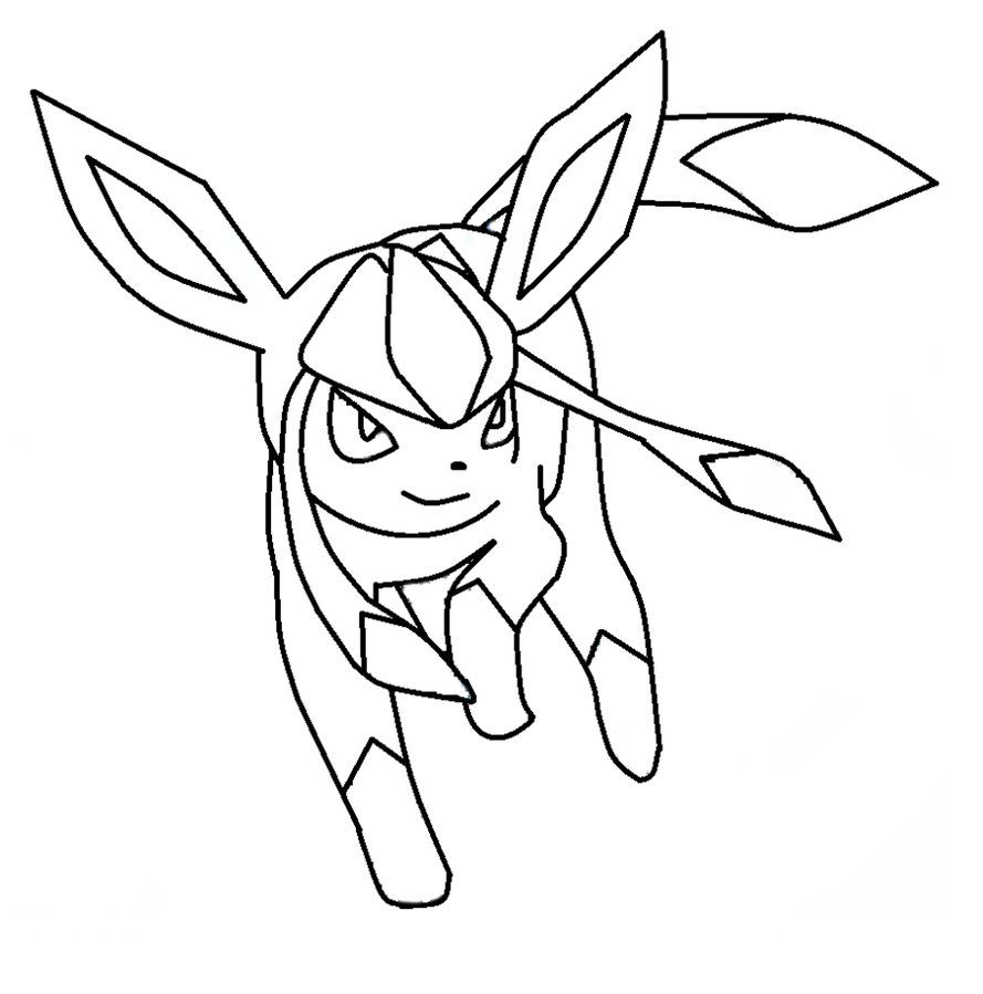 Pokemon coloring pages eevee evolutions glaceon - Glaceon Template By Shadowxmephiles On Deviantart Pokemoncoloring Pages4 Kidstemplates