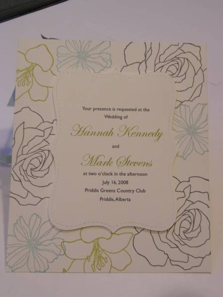wedding invitation by KKID - Cards and Paper Crafts at Splitcoaststampers