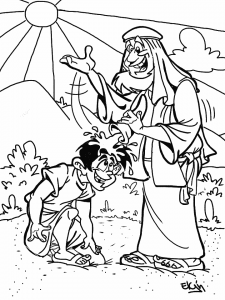 Coloring sheet of David becoming King of Israel chrch coloring