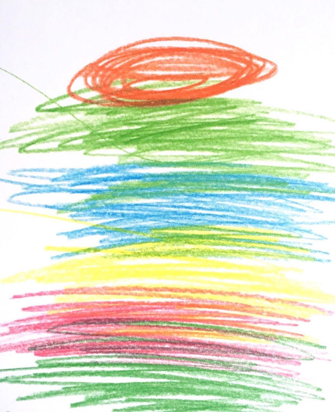 """Isabelle Jobard on Instagram: """"Alors, j'ai tout gribouillé, chaud comme l'été...ij #gribouillis #crayondecouleurs #color #drawing #pages #artistbooks #artistbookforkids…"""""""