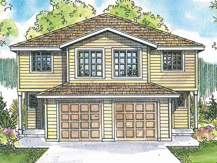 4 bed 25 bath basement each 2Story Duplex Plan 051M0016 – Duplex Plans With Garage And Basement
