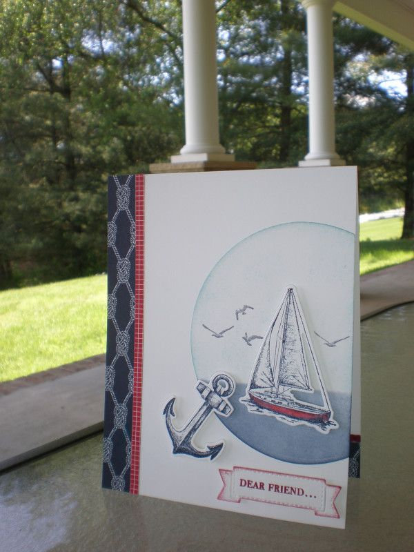 Smooth Sailing~ by stampin'nana - Cards and Paper Crafts at Splitcoaststampers #lighthousegifts
