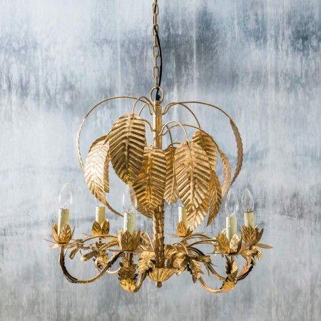 Gold palm tree chandelier aloadofball Images