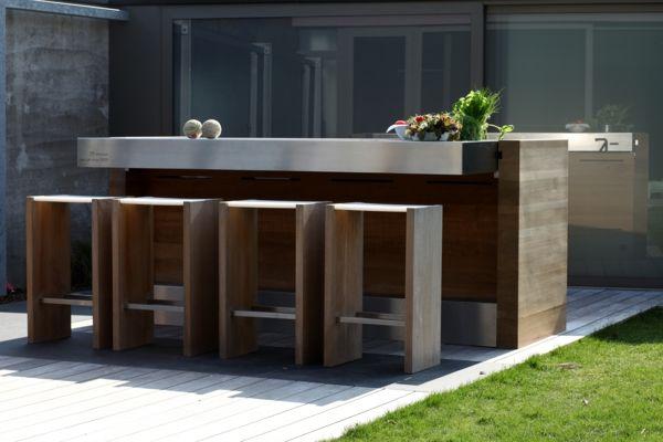 moderne hölzerne Küche outdoor room Pinterest Kitchen design - edelstahl outdoor küche