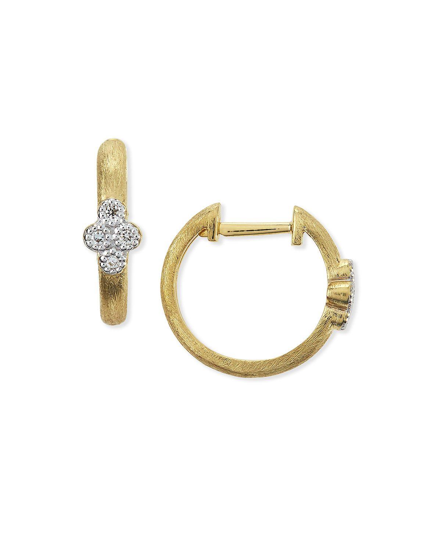 Provence Small Diamond Hoop Earrings, Gold - JudeFrances Jewelry