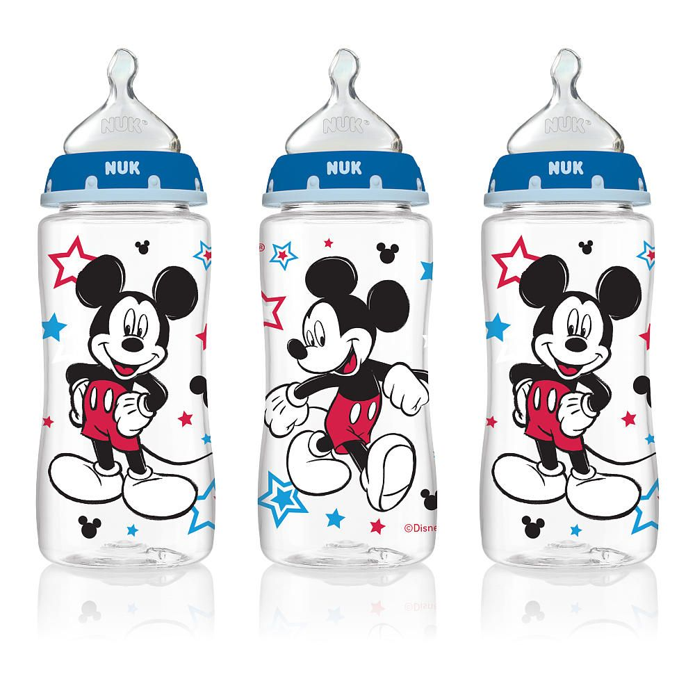 Nuk Disney Orthodontic 10 Ounce Bottles With Medium Flow