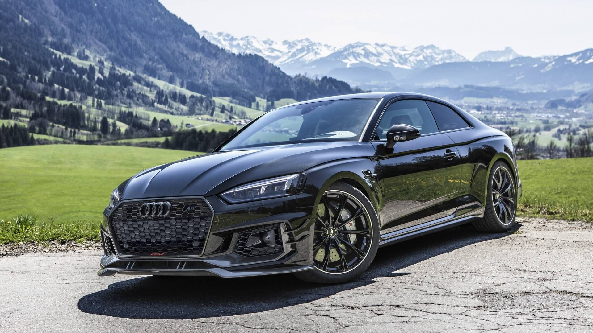 1 Of 50 Abt Audi Rs5 R Looks Mesmerizing Murdered Out Audi Rs5