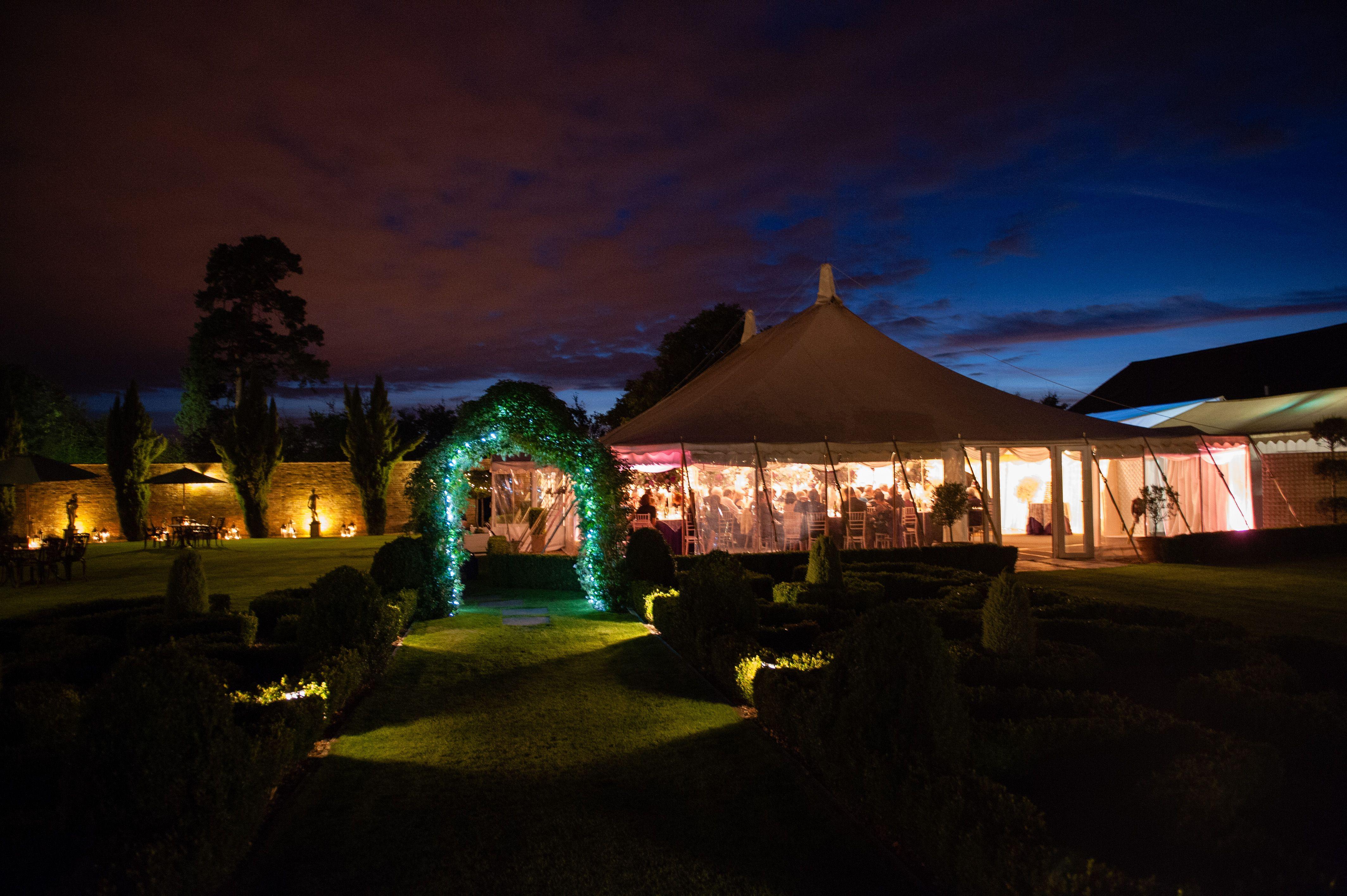 Twilight at Parley Manor | Rustic wedding, Patio umbrella ...