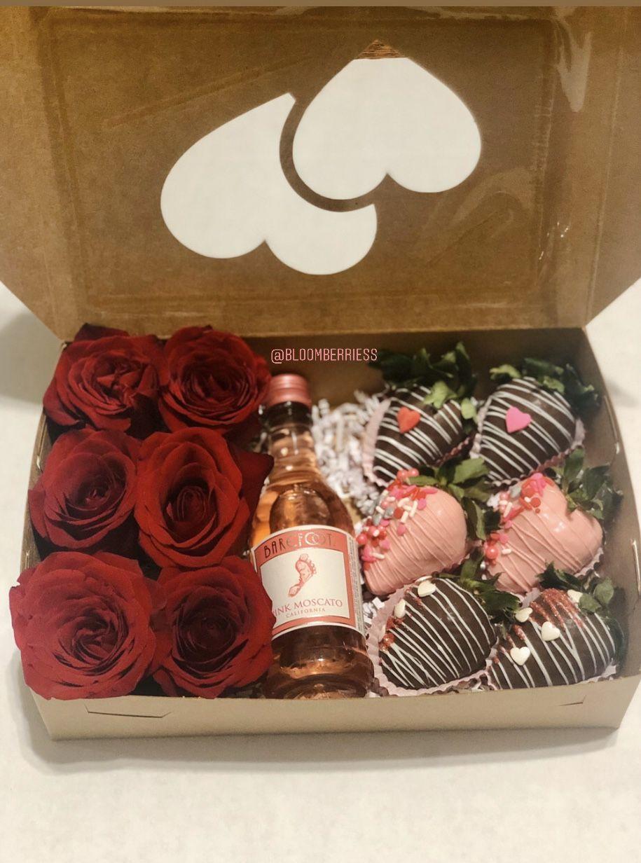 Drunken Box In 2020 Chocolate Covered Strawberries Sweet Treats Treats