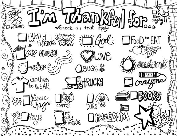 Stunning Being Thankful Coloring Pages 40 Adorable printable placemat for