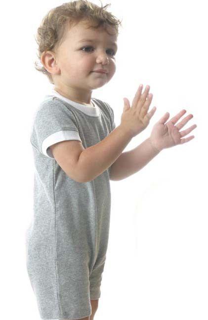 Unisex Infant Scoop Neck Short Sleeve T-Romper