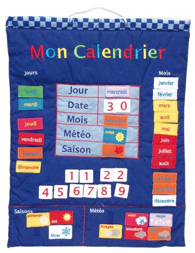Mon Calendrier - French Fabric Calendar