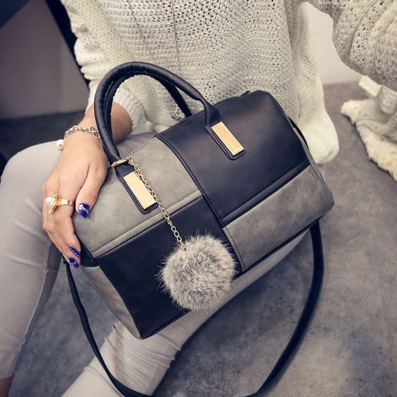 Leather Handbags Casual Women Shoulder Bag Designers Ladies Hand Bags  Simple Style Crossbody Messenger Bags 31cb980126
