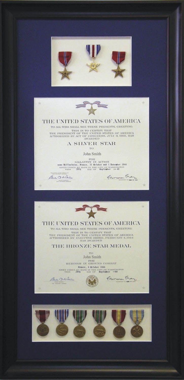 custom framed military medal display military usa customframe
