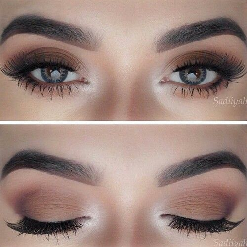 Matte Brown With A Bright Inner Highlight Ogonmakeup Makeup