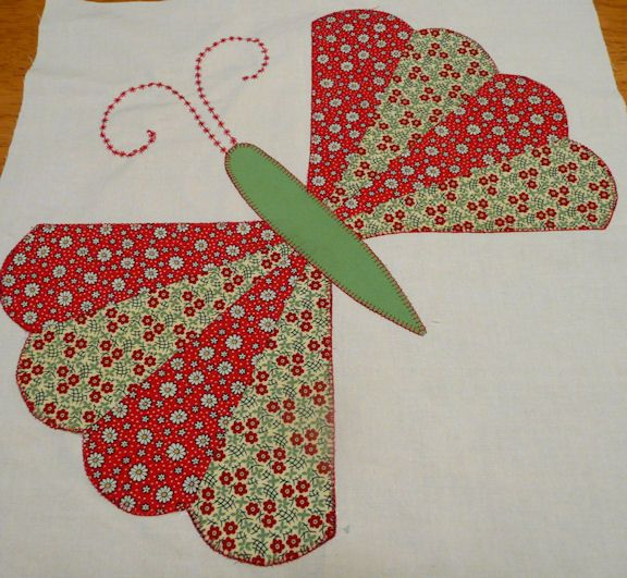 Dresden Plate Butterfly Lovely Old Fashioned Quilt Block I Can