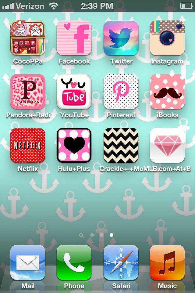 Custom iPhone screen using CocoPPa app Custom phone, Iphone