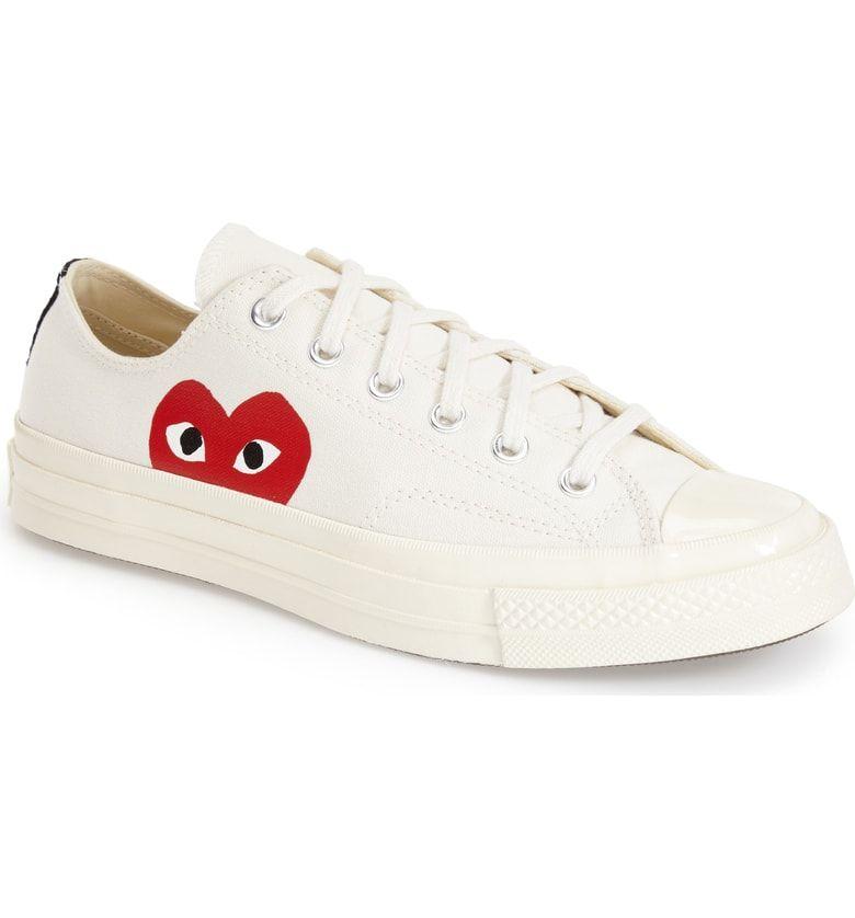 5c93d86fa2e7 Free shipping and returns on Comme des Garçons PLAY x Converse Chuck  Taylor® Hidden Heart Low Top Sneaker (Women) at Nordstrom.com.