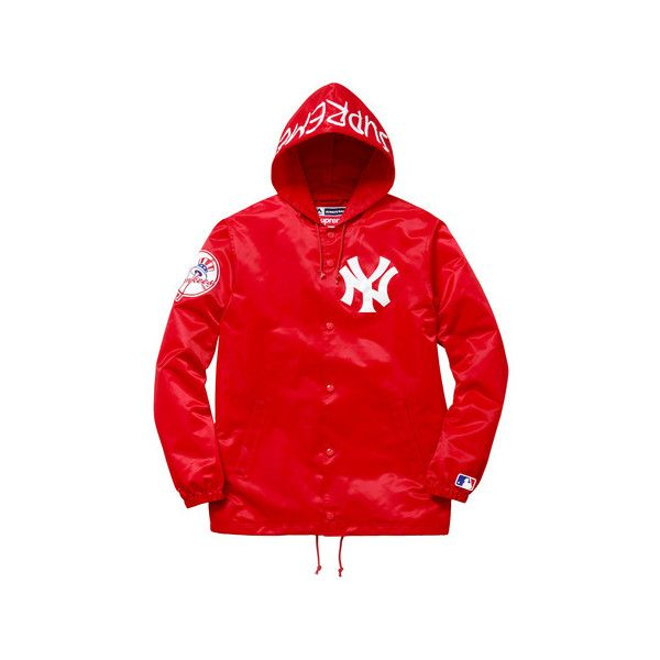 Supreme New York Yankees  Supreme  47 Brand Satin Hooded Coaches ... 95a69d80559