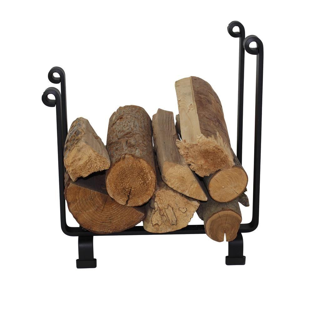 Enclume Handcrafted Indoor Outdoor Hearth Firewood Rack Black Lr7